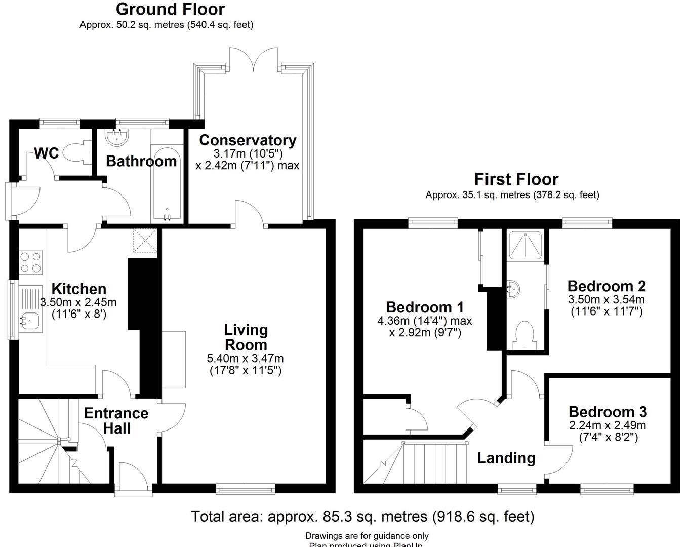 Floor plan High Street, Toft, Cambridge